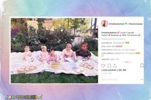 """Dzieci Kardashianek na """"babeczkowym party"""""""