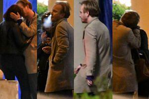 Pełen namiętności wieczór Jacka Borcucha: piękna brunetka, papierosek i pocałunki pod ścianą (ZDJĘCIA)
