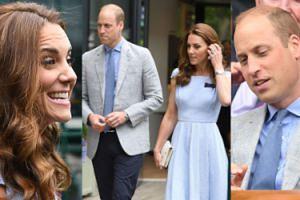 Roześmiana Kate Middleton bawi się z mężem na Wimbledonie (ZDJĘCIA)