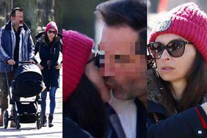 Mąż Marty Kaczyńskiej całuje ją w policzek na spacerze z dzieckiem (ZDJĘCIA)