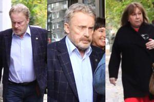 """Daniel Olbrychski maszeruje dziarsko z żoną do """"Dzień Dobry TVN"""" (WIDEO)"""