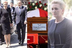 Andrzej Duda z żoną przyjechali na pogrzeb Ireny Szewińskiej (ZDJĘCIA)