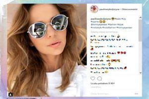 Paulina Sykut-Jeżyna świętuje nowy kontrakt w modnych okularach