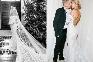 """Hailey Bieber pokazała kolejną suknię ślubną. """"Moja wymarzona kreacja"""" (FOTO)"""