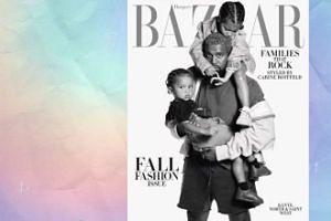 Kanye West z dziećmi na nowej okładce