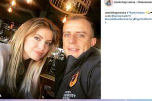 Dominika Grosicka z mężem świętują siódmą rocznicę