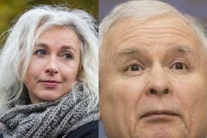 """Gretkowska surowo o Kaczyńskim: """"SKURDUPEL, stramuatyzowany starzec"""""""