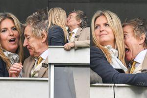 74-letni Rod Stewart obwąchuje swoją 47-letnią żonę na trybunach (ZDJĘCIA)