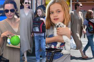 Zrelaksowana Angelina Jolie KUPUJE CÓRCE KRÓLICZKA