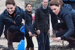 Księżna Kate ratuje środowisko, zbierając śmieci w kurteczce za 1800 złotych (FOTO)