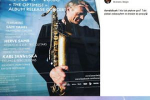 Donald Tusk promuje koncert sobowtóra