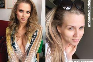 Agnieszka Kaczorowska świętuje za pieniądze światowy dzień bez makijażu. Piękna?