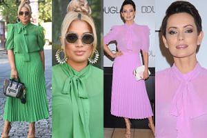 Patricia Kazadi i Dorota Gardias lansują modę na plisowane spódnice. Która wyglądała lepiej? (ZDJĘCIA)