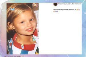 Magda Frąckowiak na zdjęciu z dzieciństwa