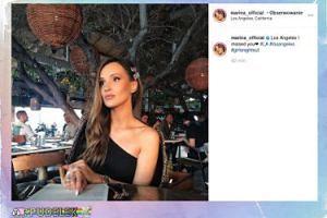 Zblazowana Marina Łuczenko podziwia kalifornijskie plaże