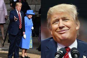 Donald Trump ZŁAMAŁ PROTOKÓŁ w trakcie spotkania z królową Elżbietą II! (ZDJĘCIA)