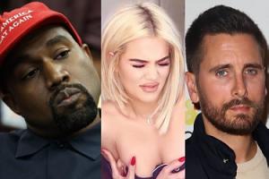 """Kanye West i Scott Disick wspierają Khloe: """"Spędzili dużo czasu na rozmowach z nią"""""""