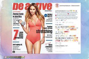 Sykut pręży mięśnie (?) na okładce magazynu Chodakowskiej