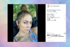49-letnia Jennifer Lopez pozuje bez makijażu