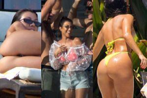Kourtney Kardashian wypina się na leżaku w Meksyku. Pokazuje byłemu, co stracił?  (ZDJĘCIA)
