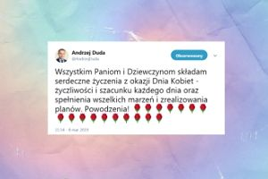 Andrzej Duda składa życzenia z okazji Dnia Kobiet
