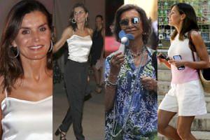 """Wyluzowani hiszpańscy """"royalsi"""" wypoczywają na Majorce: Letizia w szortach, Sofia z wiatraczkiem... (ZDJĘCIA)"""