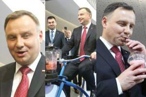 Andrzej Duda wyjeździł sobie koktajl (ZDJĘCIA)