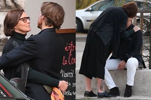 Zakochana Ilona Felicjańska na wiosennym spacerze z mężem