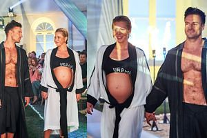 Kasia Warnke pokazała ciążowy brzuszek na pokazie mody