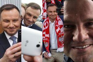 Król memów z Pałacu Prezydenckiego: najlepsze selfie Andrzeja Dudy (ZDJĘCIA)