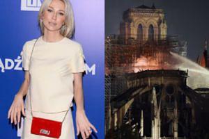 """Magdalena Ogórek komentuje pożar katedry Notre Dame: """"Za rok w okolicy na pewno przybędzie nowy meczet"""""""
