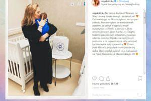 Kalicka i jej mały synek dziękują szpitalowi za opiekę