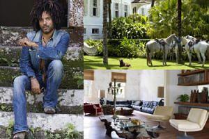 """Lenny Kravitz pokazał swój """"artystyczny Eden"""" w magazynie wnętrzarskim! Robi wrażenie? (ZDJĘCIA)"""