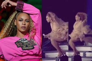 Beyonce o mało nie spadła ze schodów w trakcie koncertu! (WIDEO)