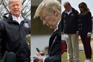 Donald Trump rozdaje autografy i PODPISUJE BIBLIE ofiarom tragicznego tornado w Alabamie (ZDJĘCIA)