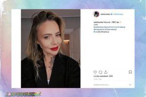 Maja Sablewska kusi czerwonymi ustami o poranku