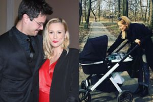"""Sylwia Juszczak na spacerze z dzieckiem w wózku za prawie 5 tysięcy. """"Posiadanie prawdziwej księżniczki zobowiązuje"""" (FOTO)"""