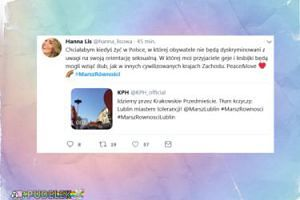 Hanna Lis komentuje Marsz Równości w Lublinie