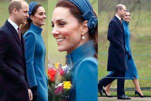 Uśmiechnięta Kate przemierza leśną ścieżkę w stylowym płaszczu (ZDJĘCIA)