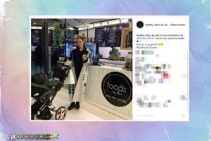 """Marina z małym Liamem odwiedzili """"healthy"""" kawiarnię Lewandowskiej"""