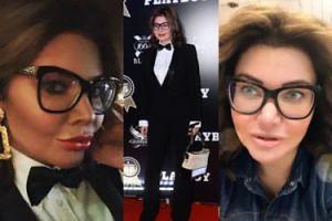 """Skromna Wodzianka przyszła na imprezę """"Playboya""""... w garniturze i okularach (FOTO)"""