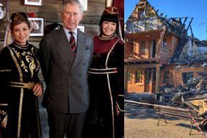 Książę Karol pomógł odbudować spaloną restaurację na Podlasiu! Był w niej osiem lat temu