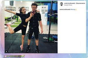 Antek Królikowski i Julia Wieniawa na wspólnym treningu