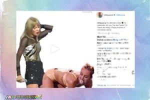 Miley podzieliła się ciekawą grafiką z Taylor. NIESMACZNE?