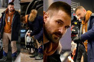 Zrelaksowany Stramowski wozi się po mieście swoim ukochanym BMW (ZDJĘCIA)
