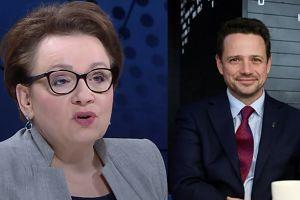 """Zalewska uderza w Trzaskowskiego: """"Chce naruszyć prawo oświatowe"""""""