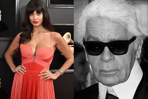 """Jameela Jamil krytykuje żałobę po Karlu Lagerfeldzie: """"Bezlitosny, piętnujący grubszych mizogin nie powinien być traktowany jak święty"""""""