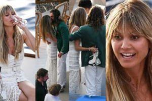 Bosonoga Heidi Klum i podekscytowany Tom Kaulitz bawią się na przedślubnej imprezie na luksusowym jachcie (ZDJĘCIA)