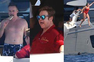 Elton John wypoczywa z mężem i przyjaciółmi na jachcie w Monako (ZDJĘCIA)
