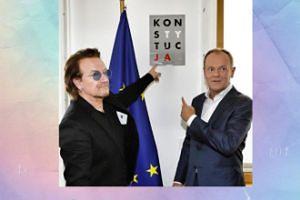 """Bono i Donald Tusk wskazują na """"konstytucję"""""""